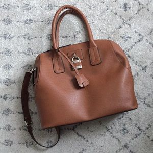 22fa5e1f1ea London Fog Brown satchel tote bag purse with strap